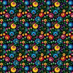 "Printed Pattern Vinyl - Midnight Flowers 12"" x 24"" Sheet"