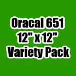 "OUTLET - Variety Pack of Oracal 651 - 12"" x 12"" Sheets"