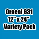 "OUTLET - Variety Pack of Oracal 631 - 12"" x 24"" Sheets"