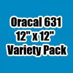 "OUTLET - Variety Pack of Oracal 631 - 12"" x 12"" Sheets"