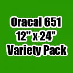 "OUTLET - Variety Pack of Oracal 651 - 12"" x 24"" Sheets"