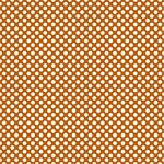 "Printed Pattern Vinyl - Burnt Orange and White Polka Dots 12"" x 24"" Sheet"