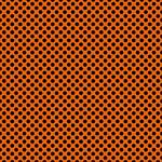"Printed HTV Orange and Black Polka Dots Print 12"" x 15"" Sheet"