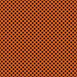 "Printed Pattern Vinyl - Orange and Black Polka Dots 12"" x 24"" Sheet"