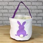 Easter Basket - Purple with Bunny