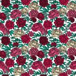 "Printed Pattern Vinyl - Roses Small 12"" x 24"" Sheet"