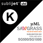 Sawgrass -Sublijet UHD- SG500/SG1000- Black 31ml