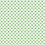 "Printed Pattern Vinyl - White with Green Shamrocks 12"" x 24"" Sheet"