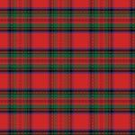 "Printed Pattern Vinyl - Stewart Plaid 12"" x 24"" Sheet"