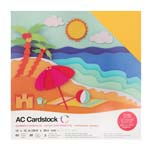 """American Craft Cardstock Textured Variety Pack 60 12"""" x 12"""" Sheets - Summer"""