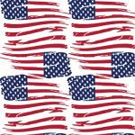 "Printed HTV Tattered US Flag Print 12"" x 15"" Sheet"