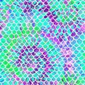 """Printed HTV Mermaid Tie Dye 12"""" x 15"""" Sheet"""