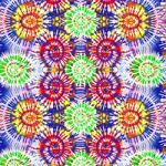 "Printed Pattern Vinyl - Original Tie Dye 12"" x 12"" Sheet"