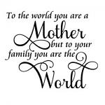 Free Download - You are a Mother but to Your Family