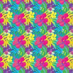 "Printed Pattern Vinyl - Tropical Flowers 12"" x 24"" Sheet"
