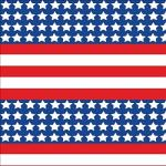 "Printed Pattern Vinyl - Patriotic US Flag 12"" x 24"" Sheet"