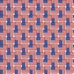 "Printed Pattern Vinyl - US Small Flag 12"" x 24"" Sheet"