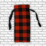 Wine Bottle Gift Bag - Red Buffalo Plaid