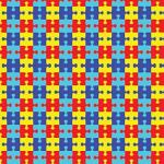 "Printed Pattern Vinyl - Autism Puzzle 12"" x 24"" Sheet"