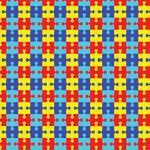 "Printed Pattern Vinyl - Autism Puzzle 12"" x 12"" Sheet"
