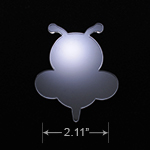 Acrylic Blank - Badge Reel - Bumble Bee