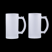Sublimation Frosted Beer Stein 16 oz. - 2 Pack