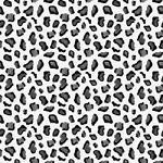 "Printed Pattern Vinyl - Black and Grey Leopard - 12"" x 12"""