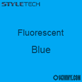 """StyleTech Fluorescent - Blue - 12"""" x 12"""" Sheet"""