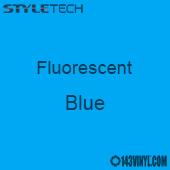 """StyleTech Fluorescent - Blue - 12"""" x 24"""" Sheet"""