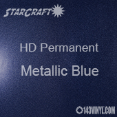 "12"" x 24"" Sheet - StarCraft HD Glossy Permanent Vinyl - Metallic Blue"