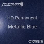 "12"" x 5' Roll - StarCraft HD Glossy Permanent Vinyl -Metallic Blue"