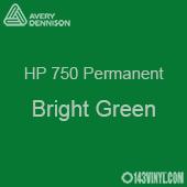 """Avery HP 750 - Bright Green- 12"""" x 5 Foot"""