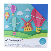 """American Craft Cardstock Textured Variety Pack 60 12"""" x 12"""" Sheets - Brights"""