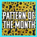 Printed Pattern Vinyl Pattern of the Month Glitter Sunflowers