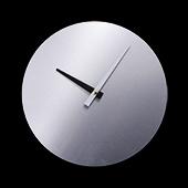 "Unisub Frameless Aluminum Round Wall Clock with Kit - 8.125"""