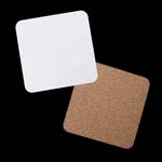 """Sublimation Coaster with Cork  4"""" x 4"""" - 2 Pack"""