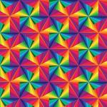 "Printed Pattern Vinyl - Color Triangles 12"" x 24"" Sheet"