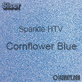 "Siser Sparkle HTV: 12"" x 24"" sheet  - Cornflower Blue"