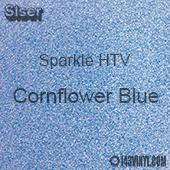 """Siser Sparkle HTV: 12"""" x 12"""" sheet - Cornflower Blue"""