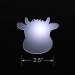 Acrylic Blank - Badge Reel - Cow