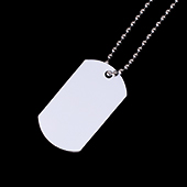 """Unisub Two Sided Dog Tag with Chain - 1.16"""" x 2"""""""