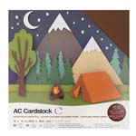 """American Craft Cardstock Textured Variety Pack 60 12"""" x 12"""" Sheets - Earth Tones"""