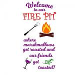 Free Download - Fire Pit Sign