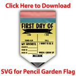 Pencil Garden Flag SVG Files