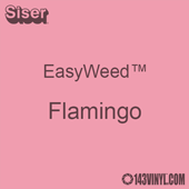 """EasyWeed HTV: 12"""" x 5 Foot - Flamingo"""