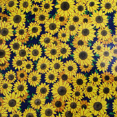 """Printed Pattern Vinyl - Pattern of the Month - Glitter Sunflowers - 12"""" x 12"""""""