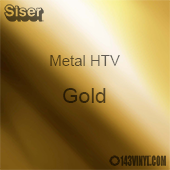 "12"" x 20"" Sheet Siser Metal HTV - Gold"