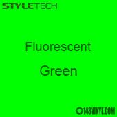 """StyleTech Fluorescent - Green - 12"""" x 24"""" Sheet"""