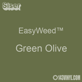 """EasyWeed HTV: 12"""" x 5 Foot - Green Olive"""