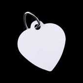 Unisub Pet Tag - Heart Shaped